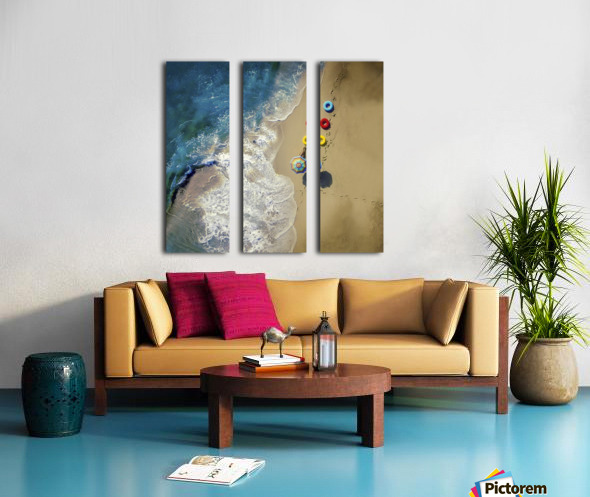 hi summer! Split Canvas print