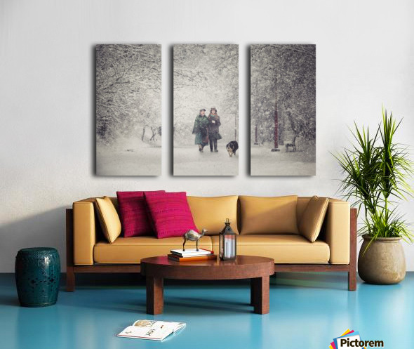 Snow storm charm Split Canvas print