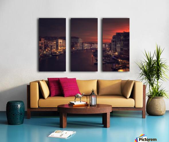 Gran canal Split Canvas print