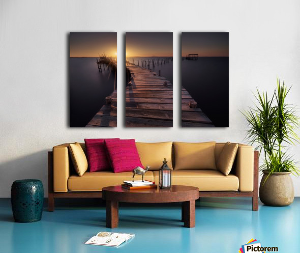 The dock Split Canvas print