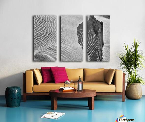 Castles in the Sand Split Canvas print