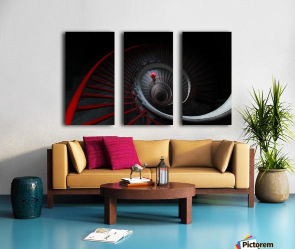 The red hat Split Canvas print
