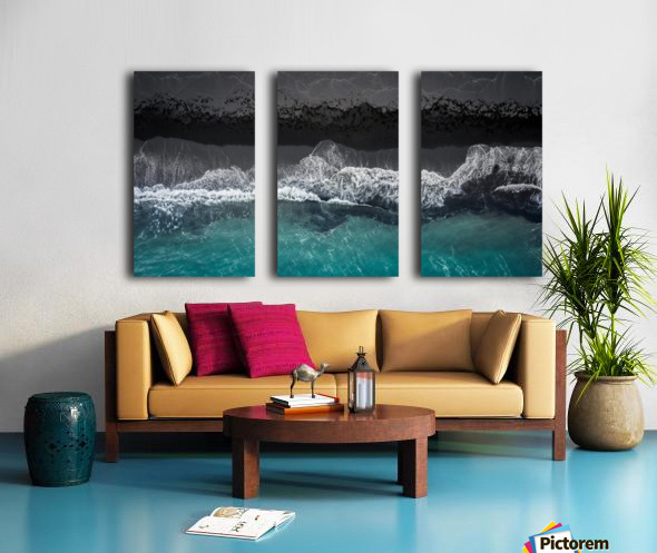 black beach Split Canvas print