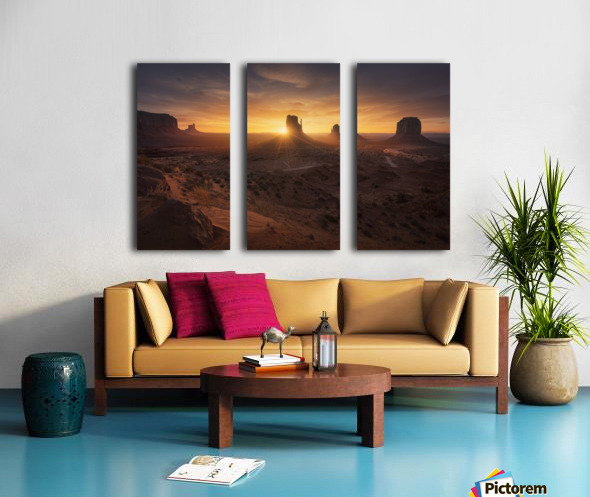 Monument Sunrise. Split Canvas print
