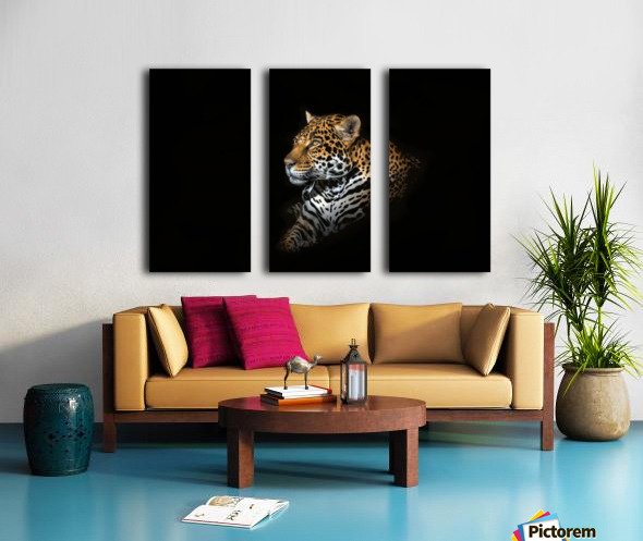 Jaguar Portrait Split Canvas print