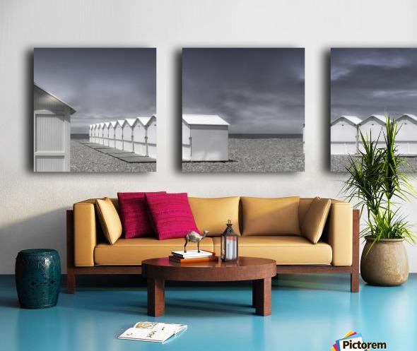 cabins beach Split Canvas print