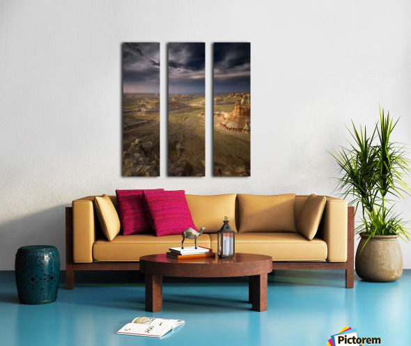 Storm in the distance Split Canvas print