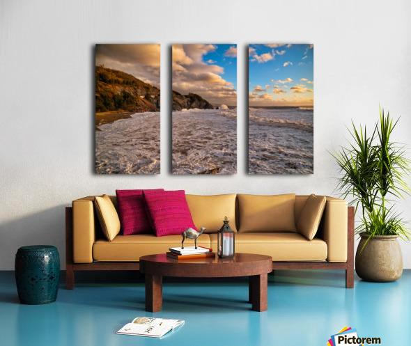 Raging Seas Split Canvas print