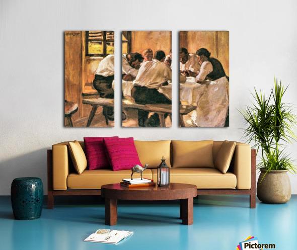 Lunch by Albin Egger-Lienz Split Canvas print