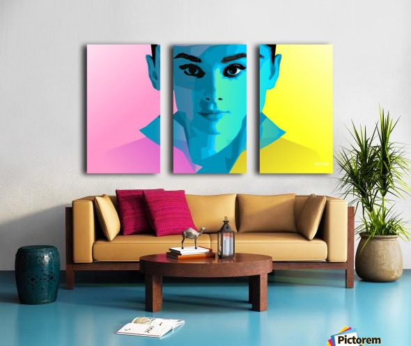 Pop Art Audrey Portrait Split Canvas print