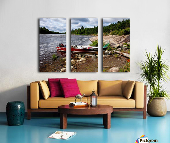 Fishing And Exploring Split Canvas print