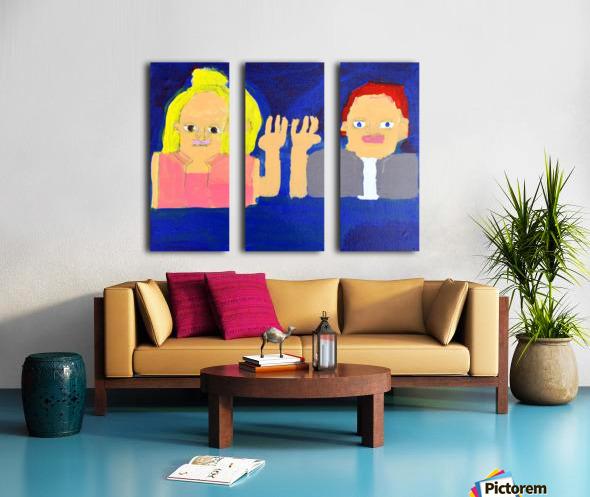 Freeze Frame High Five. Rick F. Split Canvas print