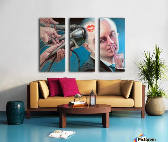 Secret Kiss By Krzysztof Grzondziel Split Canvas print