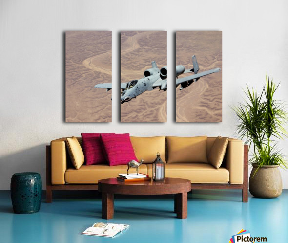 An A-10 Thunderbolt soars above the skies of Iraq. Split Canvas print