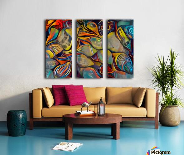 Seashell Colorful Pattern Split Canvas print