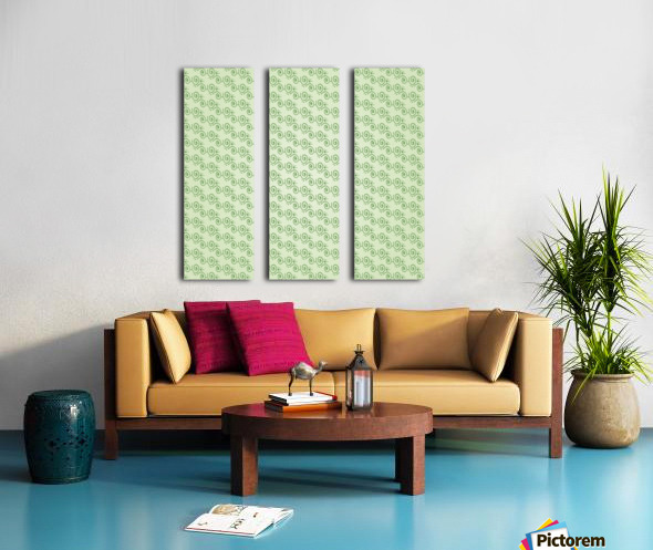 Green Hand Art Design Split Canvas print