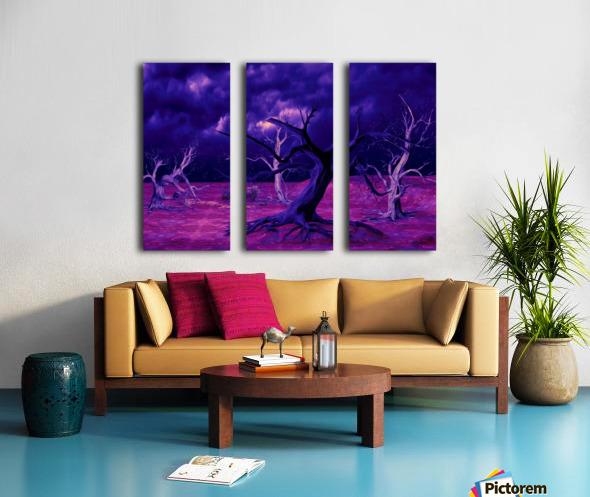 PURPLE FOREST Split Canvas print