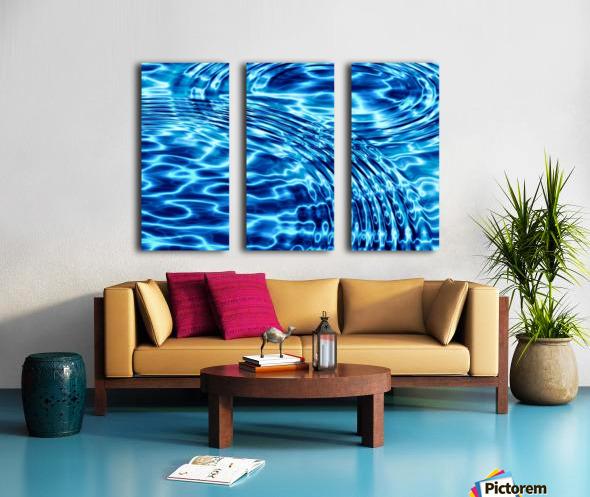 WATER CIRCLES Split Canvas print