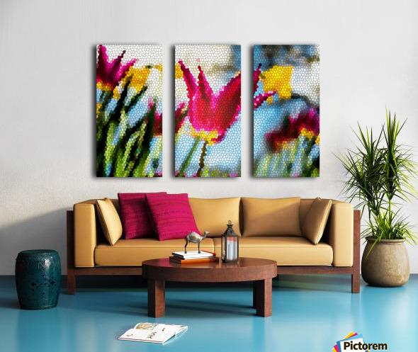 Tulip Mosaic Split Canvas print