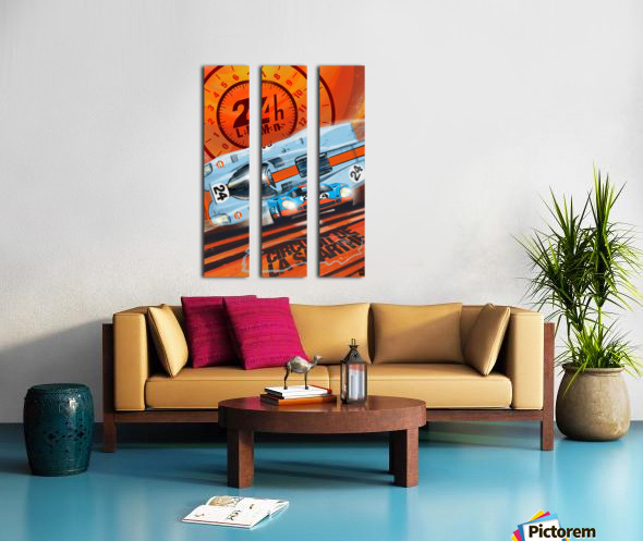 leMans Split Canvas print
