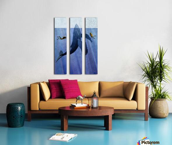Scuba Dive with Whale Split Canvas print