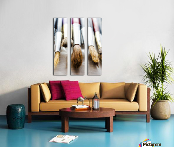 The Artists Brushes Split Canvas print