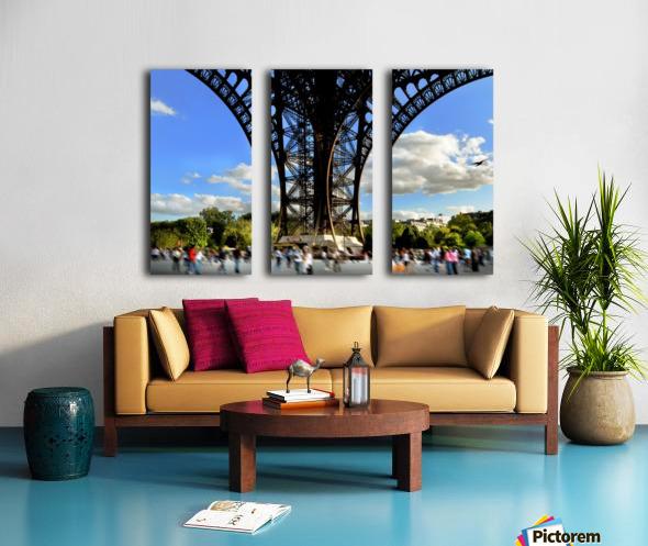 Life under the Eiffel Tower Split Canvas print
