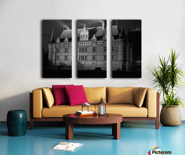 Azay le Rideau   Châteaux de la Loire  Split Canvas print
