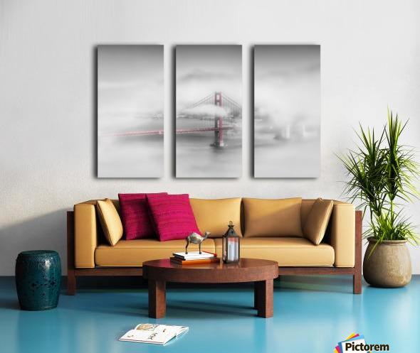 Foggy Golden Gate Bridge   colorkey Split Canvas print