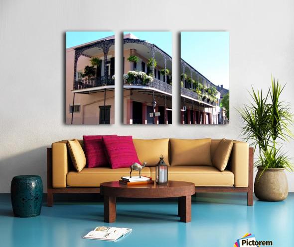New Orleans Balcony Split Canvas print