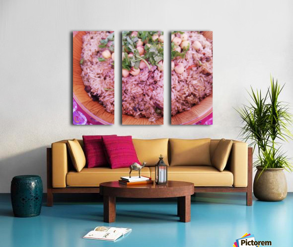 Each grain in your dish is a fruit of work.  Split Canvas print