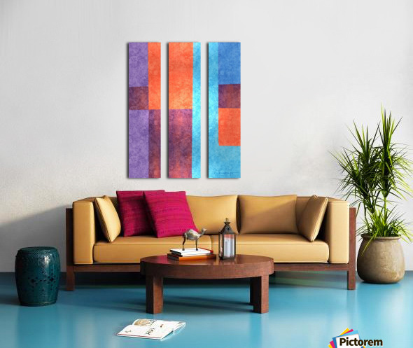 Abstract Geometric Space 3 Split Canvas print