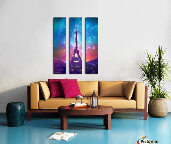 Eiffel Tower - Milky Way Collage Split Canvas print