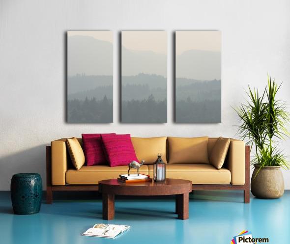 Hills of haze Split Canvas print
