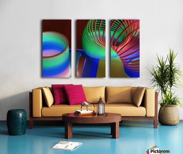 loopy Split Canvas print