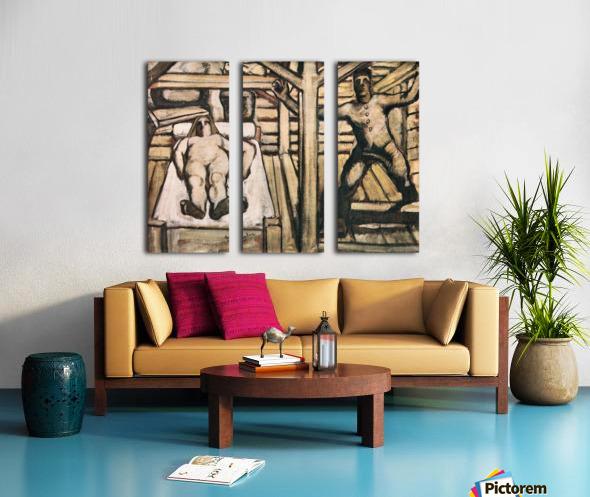 Production, design by Albin Egger-Lienz Split Canvas print