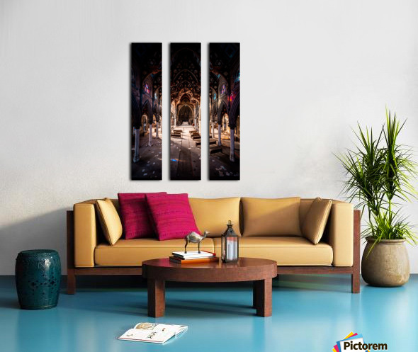 Abandoned Gothic Cathedral Split Canvas print
