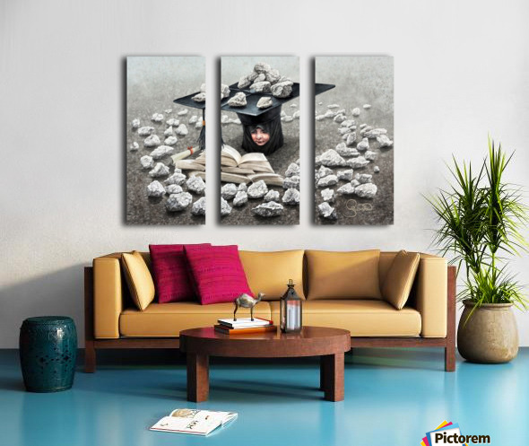 Girls education by Krzysztof Grzondziel Split Canvas print