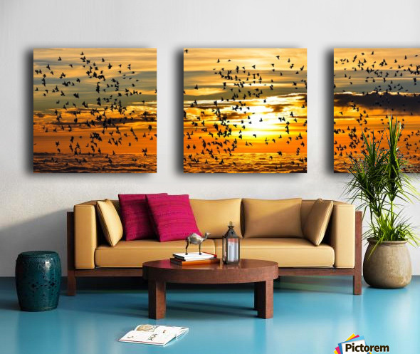 Beautiful Nature Landscape sunrise sunset sun Photography landscape photo Scenery Split Canvas print
