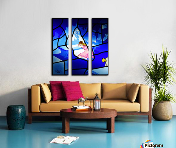 cinderella 3 Split Canvas print