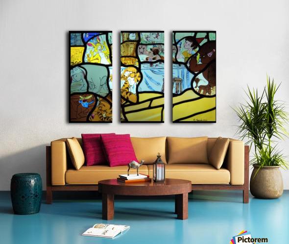 Winnie the Pooh Split Canvas print