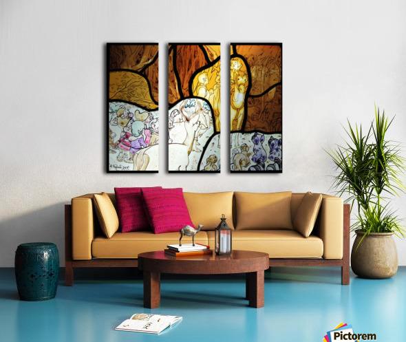 Snow White 1 Split Canvas print