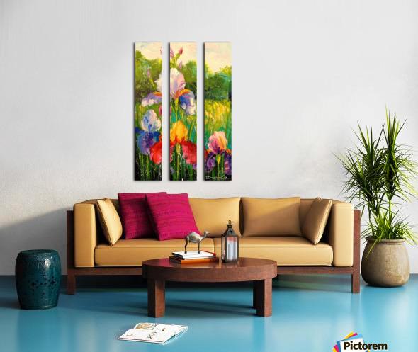 Irises Split Canvas print