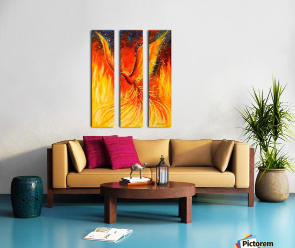 Phoenix bird Split Canvas print