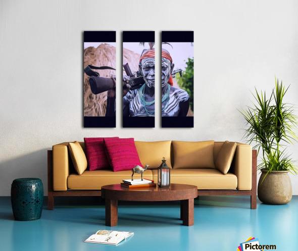 Afar Warrior Split Canvas print