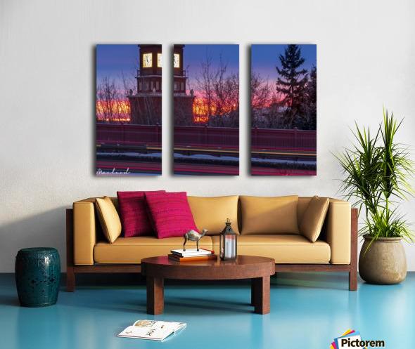StAlbertTrail_StAlbertClock_Jan18_IMG_6032 Split Canvas print