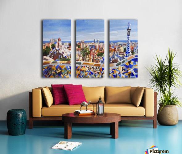 Barcelona Split Canvas print
