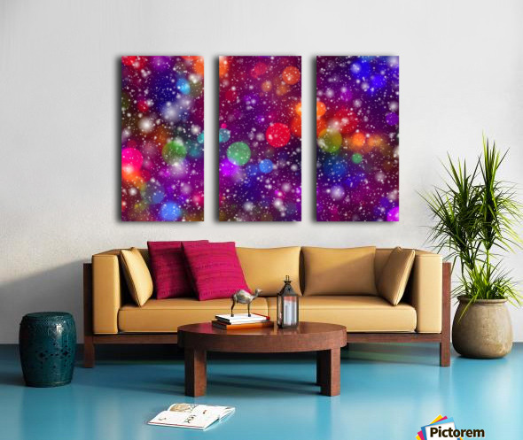 background, abstract, bokeh, lights, decoration, star, party, colorful, confetti, Split Canvas print