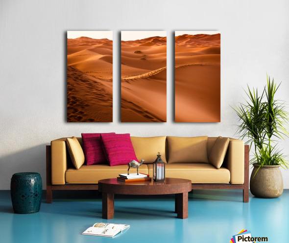 desert, morocco, sand dune, dry, landscape, dunes, sahara, gobi desert, Split Canvas print