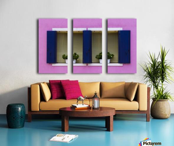 Windows in Burano Split Canvas print